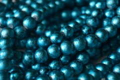 Blue Beads on the Dresser royalty free stock photography