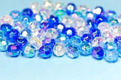 Blue beads Stock Photos