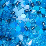 Of the blue beads and sequins Royalty Free Stock Photo