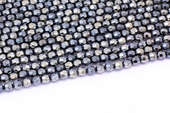 Blue beads  on white background Royalty Free Stock Photos