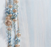 Blue beads Stock Image