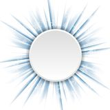 Blue beams and circle Christmas background Stock Images