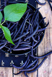 Blue beans, still, top view Royalty Free Stock Photo