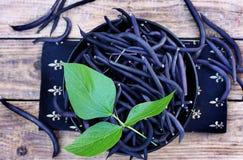 Blue beans, top view Stock Photos