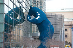 Blue Bear at Denver Convention Center Stock Images