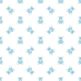 Blue bear pattern Stock Images