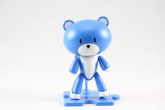 Blue bear toy Stock Images