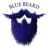 Blue beard classic jealous icon with detailed hair drawing. Blue beard classic jealous icon with detailed hair Royalty Free Stock Photos