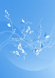 Blue beautiful butterfly background Royalty Free Stock Photos