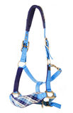 Blue beautiful halter isolated on white Royalty Free Stock Photography