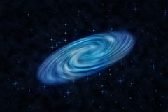 Blue beautiful spiral galaxy Stock Images