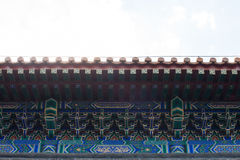 Blue beautiful wall in Temple of Heaven Stock Image