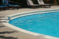 Blue beautifull pool morning in Roatan Bay Islands Honduras Royalty Free Stock Photography
