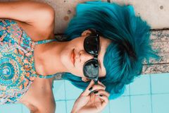Blue, Beauty, Black Hair, Eyewear