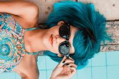 Blue, Beauty, Black Hair, Eyewear Stock Photography