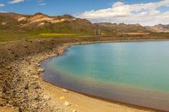 Blue beauty lake - Kleifarvatn, Iceland. Stock Photo