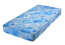 Blue bed mattress Stock Photo