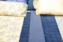 Blue bedding royalty free stock images