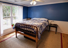 Blue bedroom Stock Image