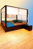 Blue bedroom Royalty Free Stock Photo