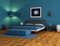 Blue bedroom Royalty Free Stock Photos