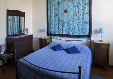 Blue bedroom Stock Photo