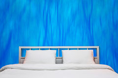 Blue bedroom Royalty Free Stock Image