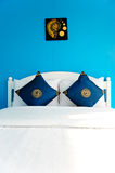 Blue Bedroom in a modern house Stock Photo