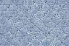 Blue bedspread Royalty Free Stock Photos