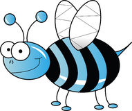 Blue bee Stock Photography