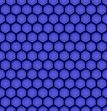 Blue bee honeycomb design seamless pattern eps10 Stock Images