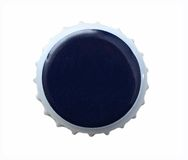 Blue beer metal bottle cap Stock Images