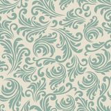 Blue and beige baroque pattern Royalty Free Stock Image