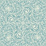 Blue and beige baroque pattern Royalty Free Stock Photos
