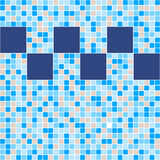 Blue and beige ceramic tile mosaic in swimming pool. Vector seamless pattern Royalty Free Stock Image