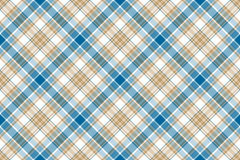Blue beige check seamless background Stock Image