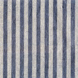 Blue, beige, gray stripe pattern on linen fabric Stock Photos