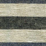 Blue, beige, gray stripe pattern on linen fabric Royalty Free Stock Images