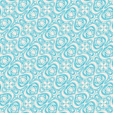 Blue and beige pattern with flowers Stock Photos