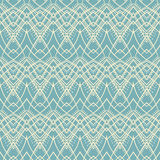 Blue and beige tribal pattern Royalty Free Stock Photo