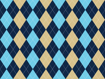 Blue beige white argyle seamless pattern. Flat design. Vector illustration Royalty Free Stock Image