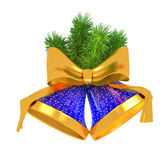 Blue bells with christmas tree Stock Image