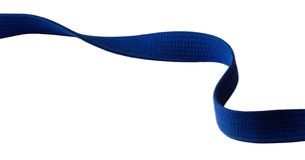 Blue belt. For marital art on a white background Stock Photography