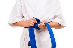 Blue belt. Stock Photography