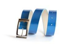 Blue Belt On White Stock Images