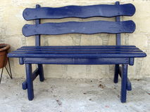 Blue bench Stock Images