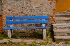 Blue Bench Royalty Free Stock Images