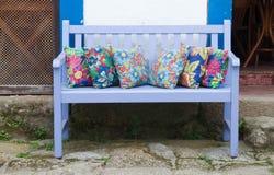 Blue bench Stock Photos