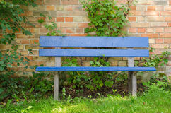 Blue bench Royalty Free Stock Photos