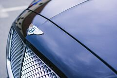 Blue Bentley Continental Gt Close Photography Royalty Free Stock Photo